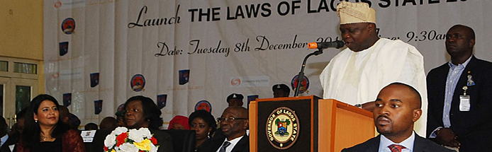 Governor of Lagos State Launching Lagos Law